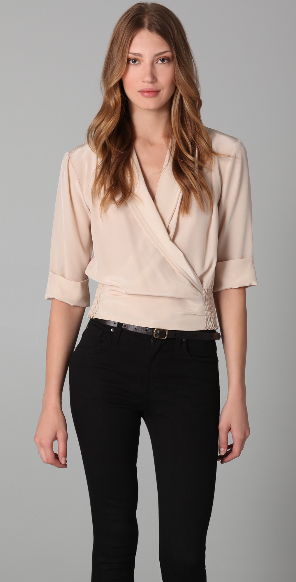 Rory Beca Clement Shawl Collar Top