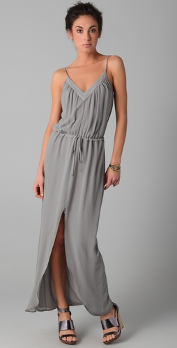 Rory Beca Keith V Neck Slit Gown