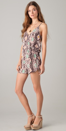 Rory Beca Kees Wrap Drawstring Romper