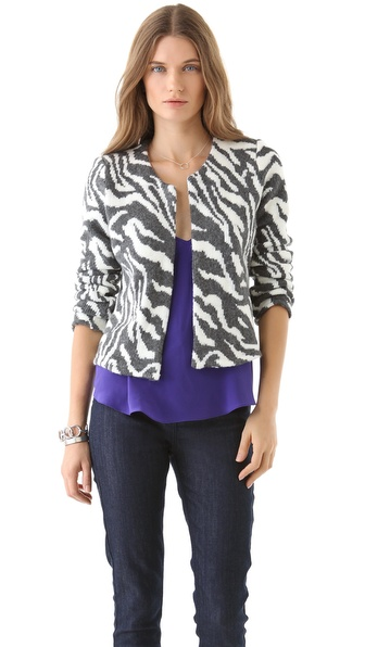 Rory Beca Kamel Knit Print Jacket