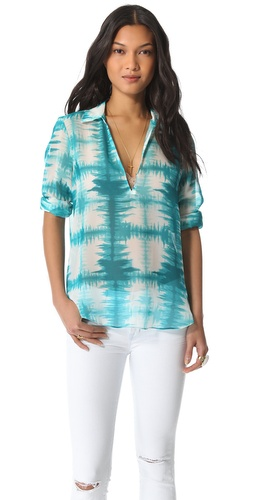 Rory Beca Flux Keyhole Collared Blouse