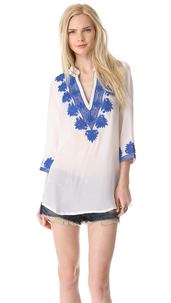 Rory Beca Embroidered Caftan Tunic