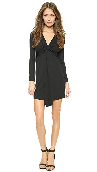 Shop Rory Beca online and buy Rory Beca Tion Deep V Dress Onyx dress online