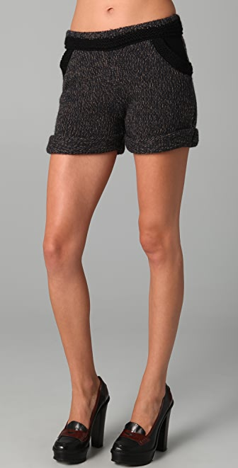 Roseanna Zoey Marled Knit Shorts