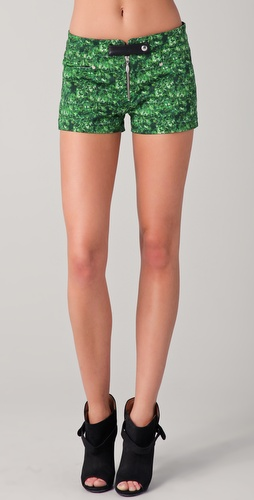 Roseanna Print Shorts with Leather Tab