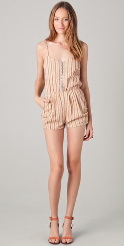 Roseanna Turan Striped Romper