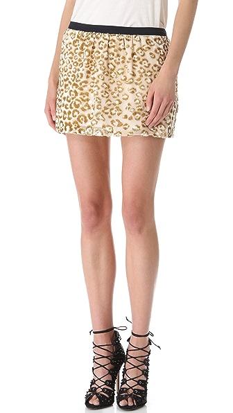 Roseanna Lou Metallic Leopard Skirt