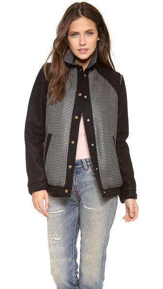 Roseanna Kiki Removable Sleeve Bomber