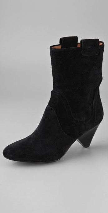 ROSEGOLD Lorie Suede Booties on Low Heel