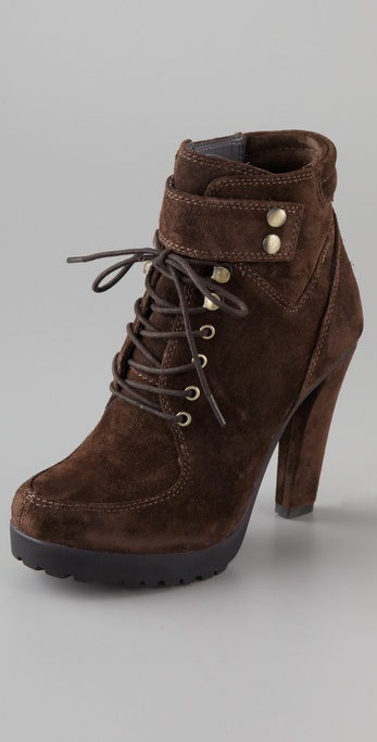 ROSEGOLD Nancy Suede Lace Up Booties