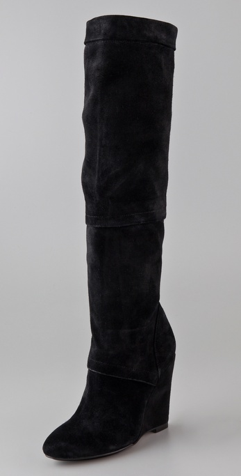 ROSEGOLD Sarah Suede Wedge Boots