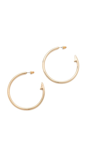 Rose Pierre Topwater Fish Hook Hoop Earrings