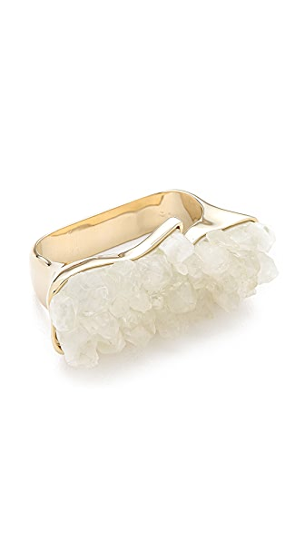 Rose Pierre Sparkling Sea Double Finger Ring