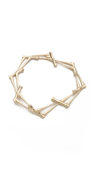 Rose Pierre Bamboo Jungle Collar Necklace
