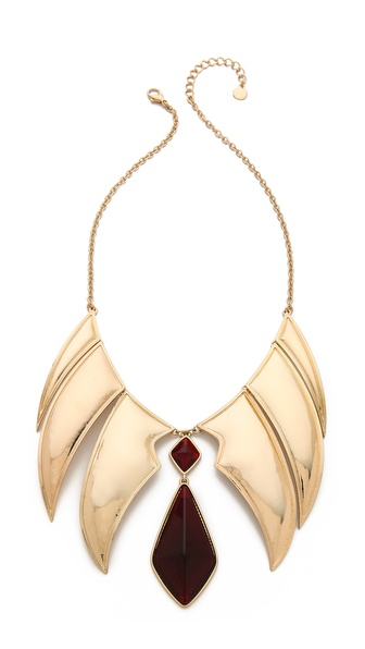 Rose Pierre Chandelier Collar Necklace