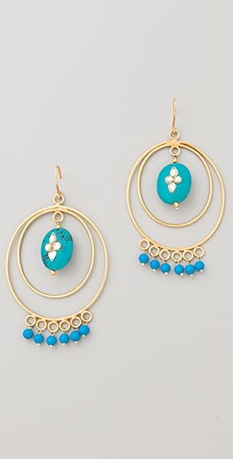 Rosena Sammi Jewelry Kundan Hoop Earrings