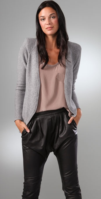 Rachel Pally Shoulder Pad Cardigan Sweater