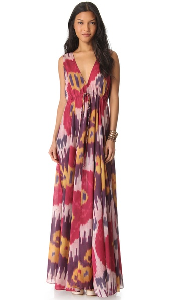 Rachel Pally Long V Neck Caftan