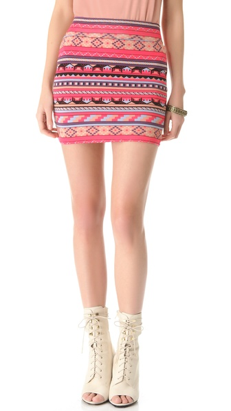 Rachel Pally Bandage Miniskirt
