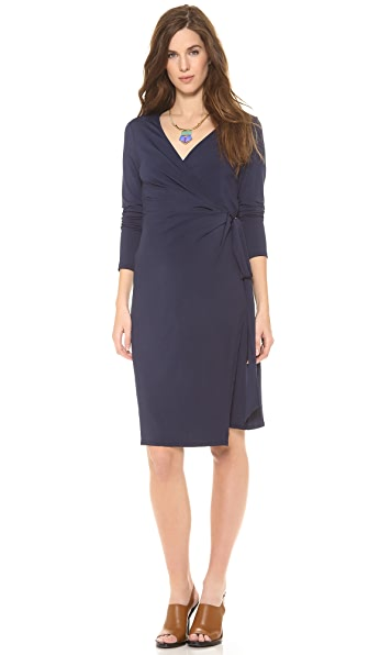 Wrap Wrap Maternity Wrap Dress (Blue)