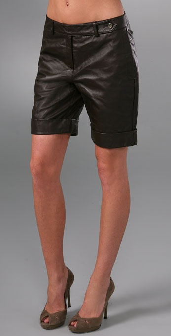 Robert Rodriguez Leather Shorts