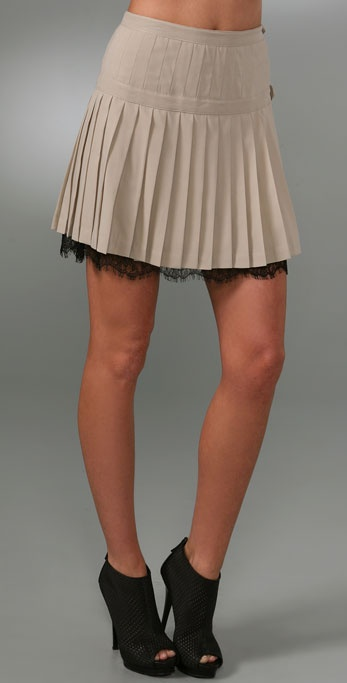 Robert Rodriguez Pleated Straight Skirt