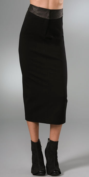 Robert Rodriguez Long Ponte Pencil Skirt