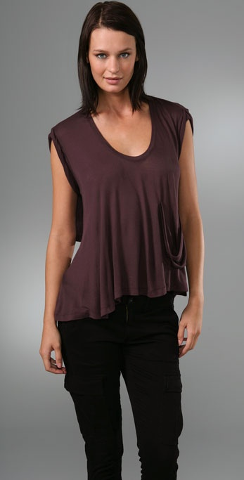 Robert Rodriguez Scoop Neck Pocket Tee