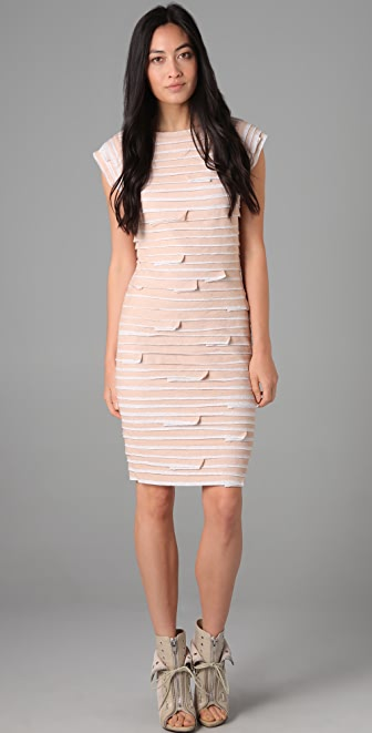 Robert Rodriguez Layered Jersey Dress