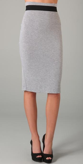 Robert Rodriguez Jersey Pencil Skirt