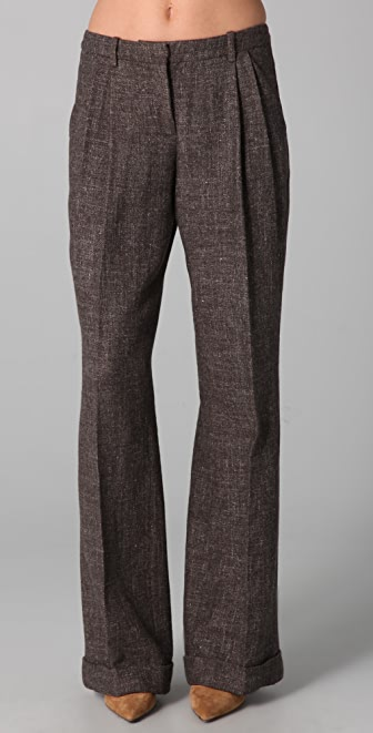 Robert Rodriguez Tweed Wide Leg Pants