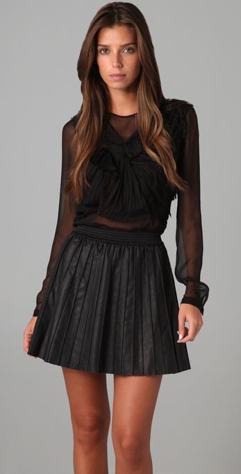 Robert Rodriguez Chiffon Bow Top