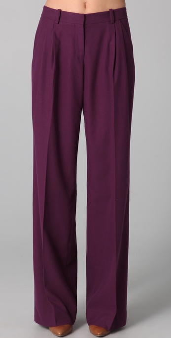 Robert Rodriguez Wide Leg Pleated Pants