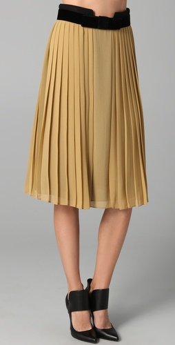 Robert Rodriguez Pleated Skirt