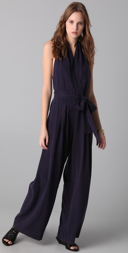 Robert Rodriguez Pleated Halter Jumpsuit