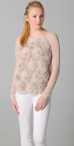 Robert Rodriguez Chiffon Rose Top