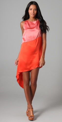 Robert Rodriguez Colorblock Cascade Dress