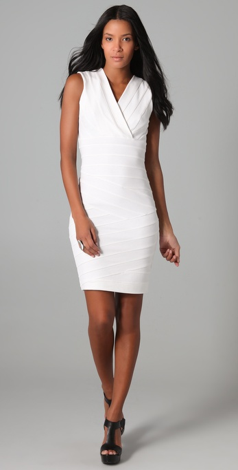 Robert Rodriguez Taped Body Con Dress