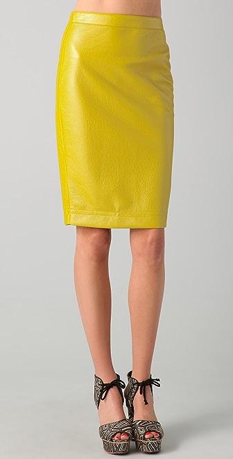 Robert Rodriguez Coated Pencil Skirt