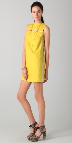 Robert Rodriguez Piped Shift Dress