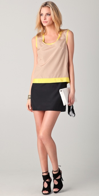 Robert Rodriguez Double Layer Tunic Dress