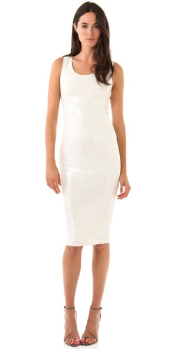 Robert Rodriguez Sequined Midi Tank Dress