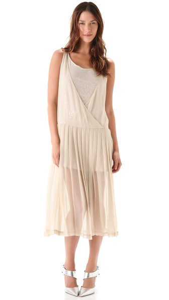 Robert Rodriguez Sequined Pleated Midi Dress