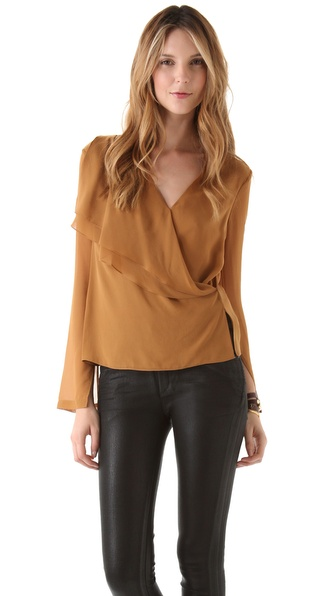 Robert Rodriguez Asymmetric Drape Blouse