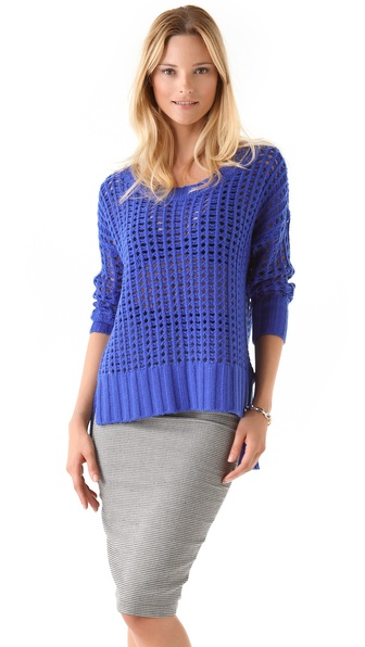 Robert Rodriguez Open Grid Easy Pullover