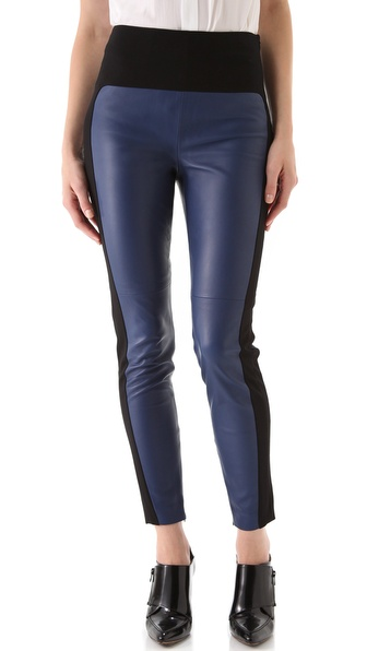 Robert Rodriguez Skinny Leather Moto Pants