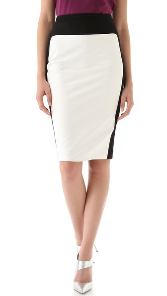 Robert Rodriguez Leather Pencil Skirt