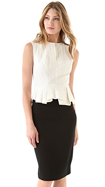 Robert Rodriguez Folded Peplum Top