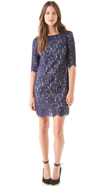 Robert Rodriguez Lace Shift Dress