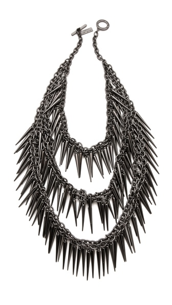 Robert Rodriguez Multi Layered Spike Necklace